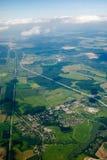 Vue aérienne des maisons et? Image stock
