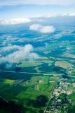 Vue aérienne des maisons et… Photographie stock libre de droits