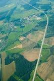 Vue aérienne des maisons et… Photographie stock