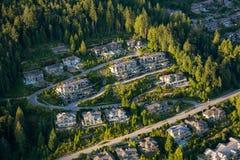 Vue aérienne des maisons résidentielles photographie stock libre de droits
