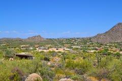 Vue aérienne des maisons rêveuses à Scottsdale, Arizona Etats-Unis Photographie stock