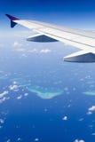 Vue aérienne des Maldives Image libre de droits