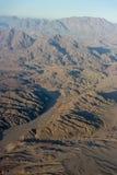 Vue aérienne des montagnes égyptiennes Photos stock
