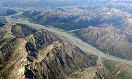 Vue aérienne des montagnes Photographie stock