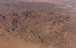 Vue aérienne des montagnes Images stock