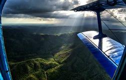 Vue aérienne des montagnes d'Escambray, Cuba Photos stock