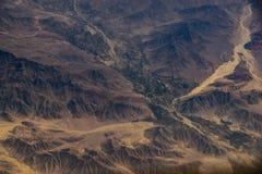Vue aérienne des montagnes et des déserts du Pérou photo libre de droits