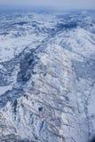 Vue aérienne des montagnes rocheuses et de Salt Lake City Photographie stock