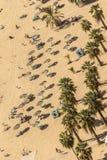 Vue aérienne des personnes sur une plage dans Ténérife Photos stock