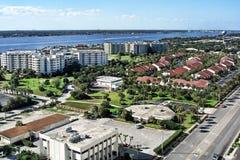 Vue aérienne des rivages de Daytona Beach, la Floride Photographie stock