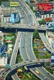 Vue aérienne des survols à Bangkok, Thaïlande images stock