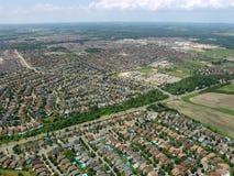 Vue aérienne des zones résidentielles Image libre de droits