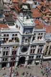 Vue aérienne du bâtiment de dell'Orologio de Torre dans Squa de St Mark Photo stock