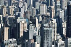 Vue aérienne du bâtiment moderne contemporain dans le paysage urbain de Bangkok Images libres de droits