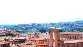Vue aérienne du beau paysage urbain médiéval de Sienne en Toscane Italie banque de vidéos