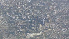 Vue aérienne du centre de Dallas banque de vidéos
