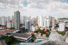 Vue aérienne du centre de Sao Paulo Photos stock