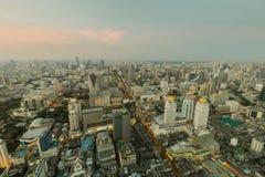 Vue aérienne du centre de ville de Bangkok Photos stock