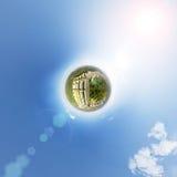 Vue aérienne du centre ville Carrefours, maisons Photographie stock libre de droits