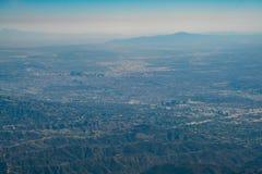 Vue aérienne du centre ville et de Westwood de Los Angeles du centre Photographie stock libre de droits