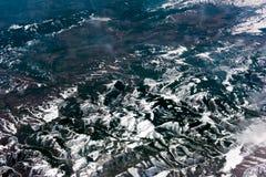 Vue aérienne du cercle arctique Photo stock
