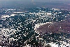 Vue aérienne du cercle arctique Photo libre de droits