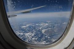 Vue aérienne du cercle arctique Images libres de droits