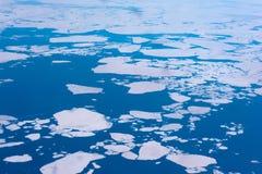 Vue aérienne du cercle arctique Images stock