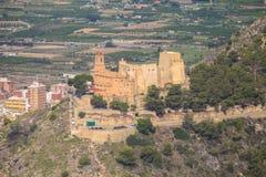 Vue aérienne du château espagnol de Cullera Images libres de droits