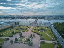 Vue aérienne du champ de Mars, St Petersbourg, Russie Image libre de droits