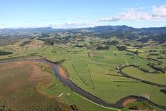 Vue aérienne du Coromandel péninsulaire Photographie stock libre de droits