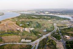 Vue aérienne du développement Images stock