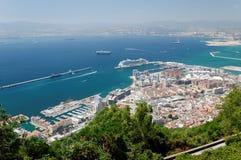 Vue aérienne du Gibraltar Image libre de droits