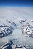 Vue aérienne du Groenland Photographie stock libre de droits