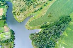 Vue aérienne du lac images libres de droits