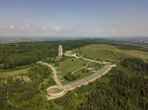 Vue aérienne du mémorial national de la RDA près du camp de concentration de Buchenwald Photos libres de droits