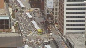 Vue aérienne du marché de Broadway clips vidéos