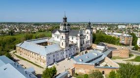 Vue aérienne du monastère des Carmélites nues dans Berdichev, Ukraine Photographie stock libre de droits
