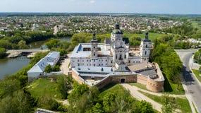 Vue aérienne du monastère des Carmélites nues dans Berdichev, Ukraine Photos stock