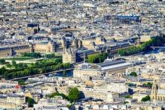 Vue aérienne du musée de Louvre Images libres de droits