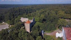 Vue aérienne du nouveau château dans Sigulda