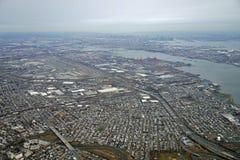 Vue aérienne du péage et de Newark Liberty International Airport de New Jersey Images libres de droits