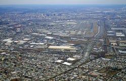 Vue aérienne du péage et de Newark Liberty International Airport de New Jersey Photo libre de droits