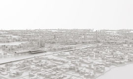 Vue aérienne du paysage urbain Image libre de droits