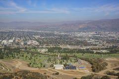Vue aérienne du paysage urbain de Burbank photographie stock libre de droits