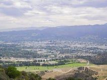 Vue aérienne du paysage urbain de Burbank image libre de droits