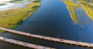 Vue aérienne du pont 10 d'un état à un autre Image stock