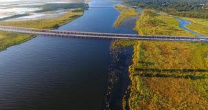 Vue aérienne du pont 10 d'un état à un autre Photographie stock