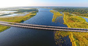 Vue aérienne du pont 10 d'un état à un autre Photos stock