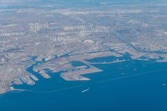 Vue aérienne du rivage du comté de Los Angeles Photographie stock libre de droits